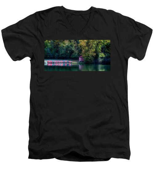 Beavers Bend Reflection Men's V-Neck T-Shirt