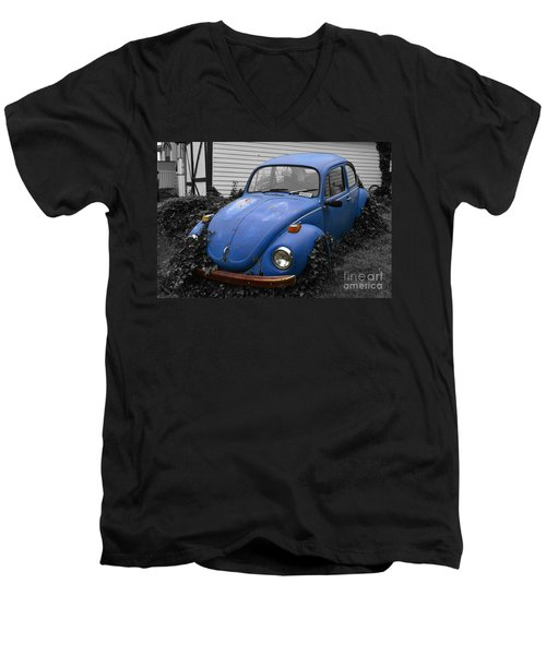 Men's V-Neck T-Shirt featuring the photograph Beetle Garden by Angela DeFrias