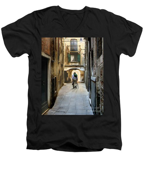 Men's V-Neck T-Shirt featuring the photograph Beginning Of An End by Jennie Breeze