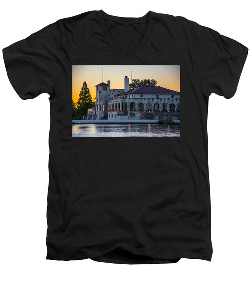 Belle Isle Boat House Men's V-Neck T-Shirt