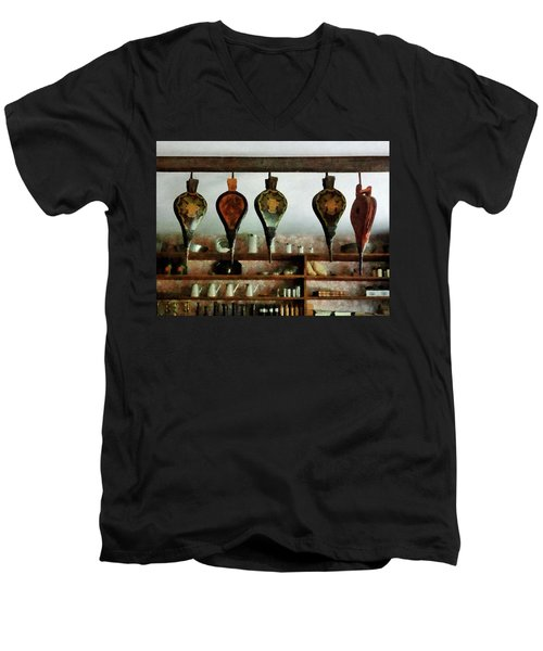 Bellows In General Store Men's V-Neck T-Shirt by Susan Savad