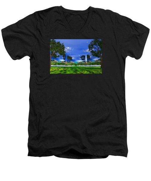 Men's V-Neck T-Shirt featuring the photograph Belonging by Mark Blauhoefer