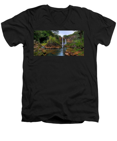 Below Wailua Falls Men's V-Neck T-Shirt