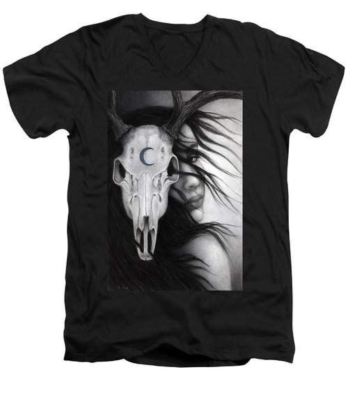 Men's V-Neck T-Shirt featuring the painting Beltane by Pat Erickson