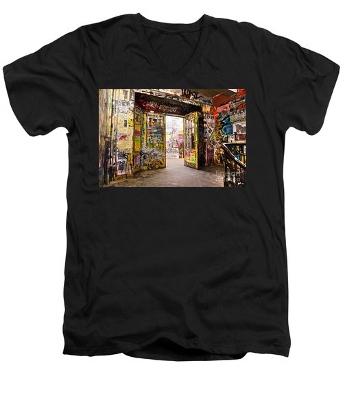 Berlin - The Kunsthaus Tacheles Men's V-Neck T-Shirt by Luciano Mortula