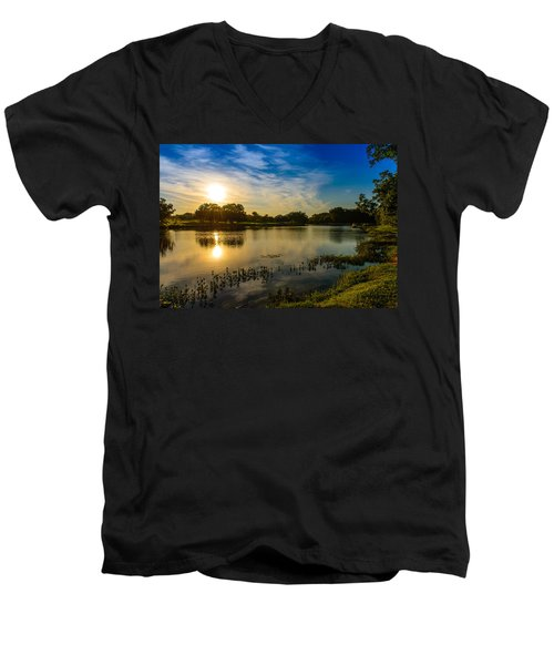 Berry Creek Pond Men's V-Neck T-Shirt