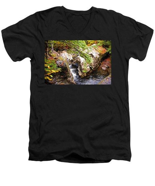 Men's V-Neck T-Shirt featuring the photograph Beside The Water by Bill Howard