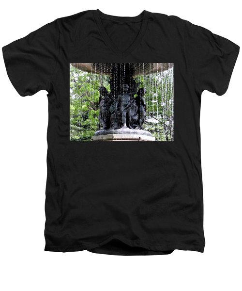 Bethesda Boys Men's V-Neck T-Shirt by Ed Weidman