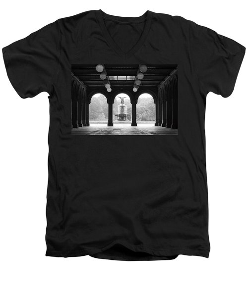 Bethesda Terrace  1990s Men's V-Neck T-Shirt