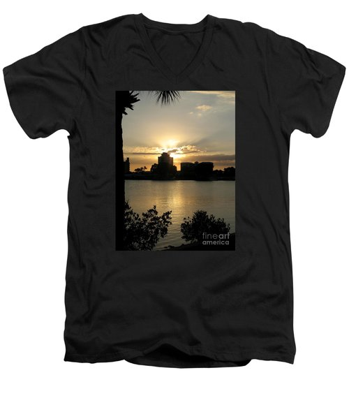 Between Day And Night Men's V-Neck T-Shirt by Christiane Schulze Art And Photography