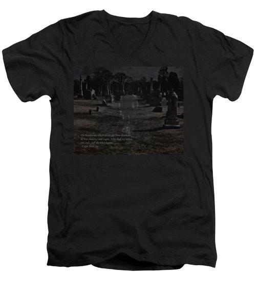 Between Life And Death Men's V-Neck T-Shirt