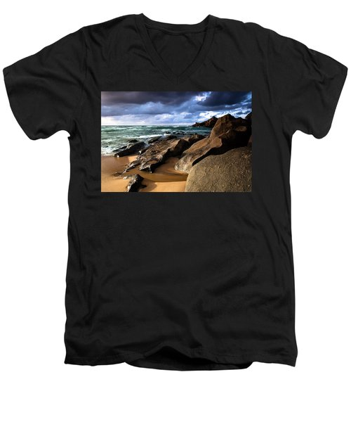 Between Rocks And Water Men's V-Neck T-Shirt