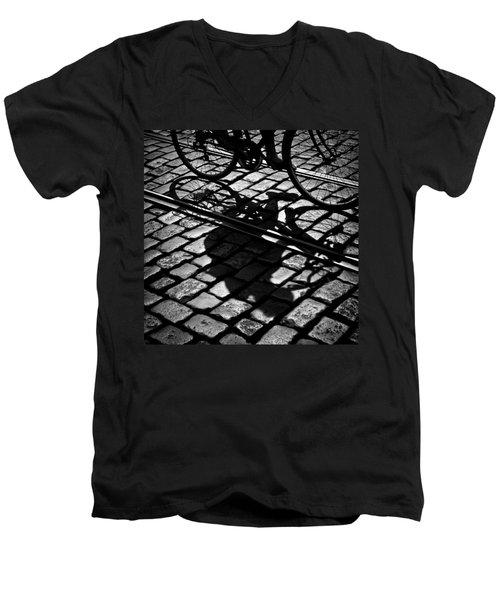 Between The Lines Men's V-Neck T-Shirt