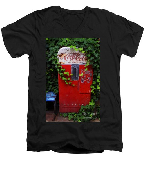 Austin Texas - Coca Cola Vending Machine - Luther Fine Art Men's V-Neck T-Shirt