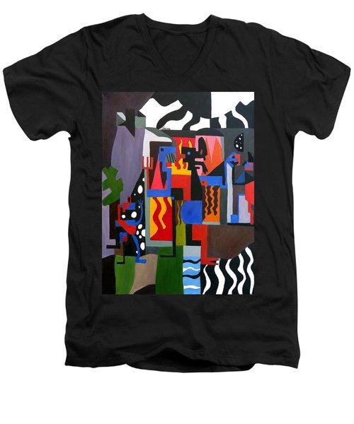 Bicloptochotik Men's V-Neck T-Shirt