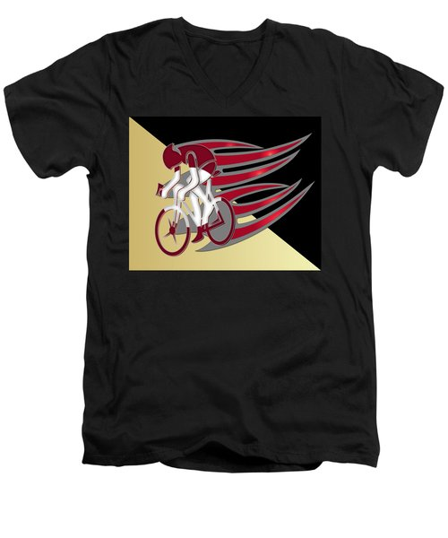 Bicycle Rider 01 Men's V-Neck T-Shirt