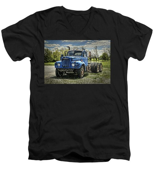 Big Blue Mack Men's V-Neck T-Shirt