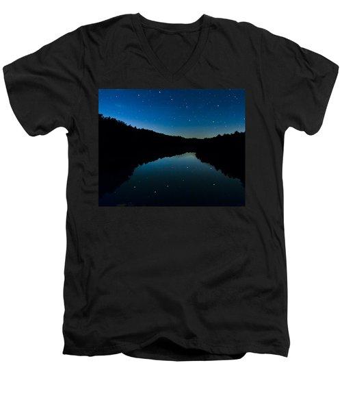 Big Dipper Reflection Men's V-Neck T-Shirt