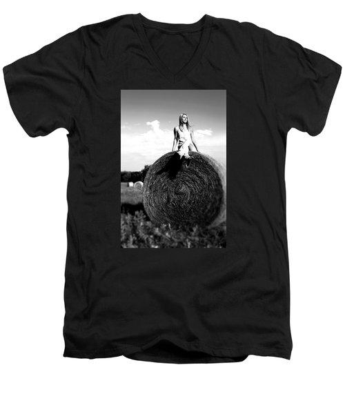 Big Dreams Bw Men's V-Neck T-Shirt by Elizabeth Sullivan