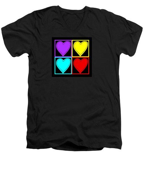 Big Hearts I Men's V-Neck T-Shirt
