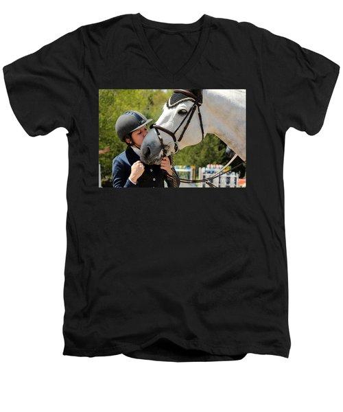 Big Kisses Men's V-Neck T-Shirt
