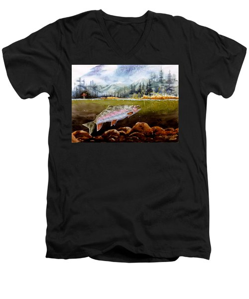 Big Thompson Trout Men's V-Neck T-Shirt