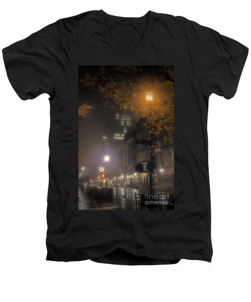 Men's V-Neck T-Shirt featuring the photograph Bigga Mist by Robert McCubbin