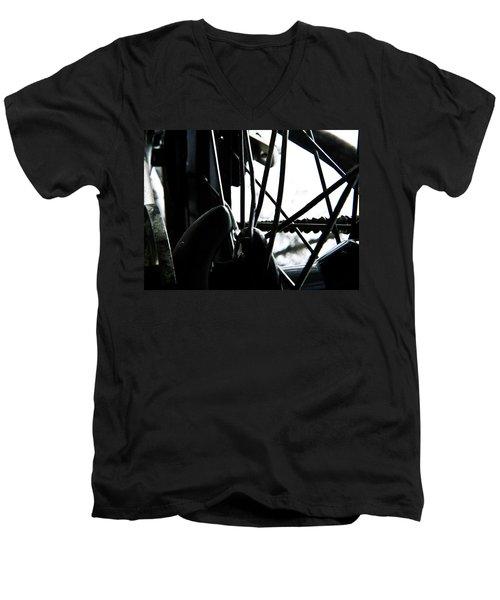 Bike Wheel Men's V-Neck T-Shirt by Joel Loftus