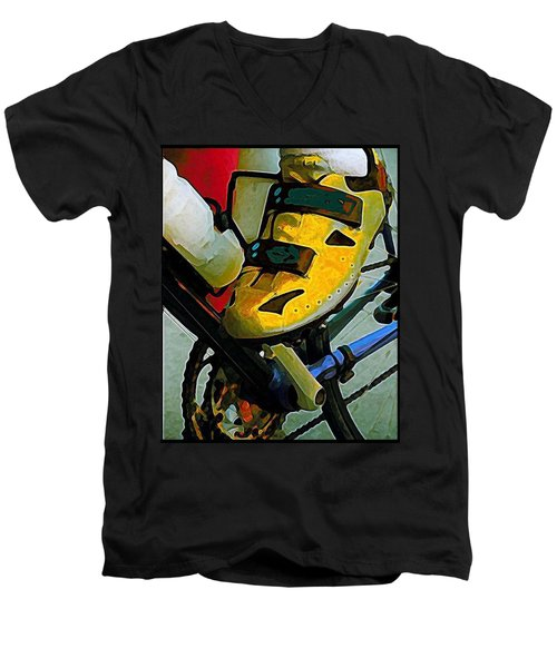 Biker Boy Foot Men's V-Neck T-Shirt