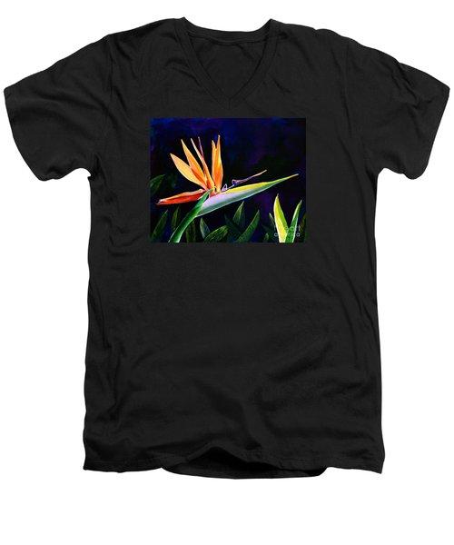 Bird Of Paradise Men's V-Neck T-Shirt by AnnaJo Vahle