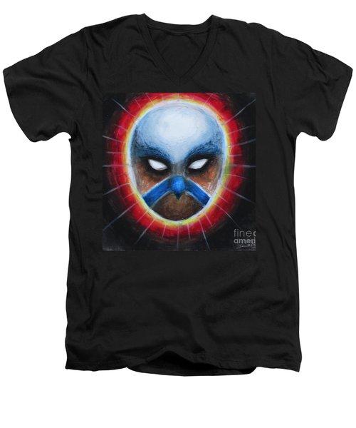 Bird Totem Mask Men's V-Neck T-Shirt