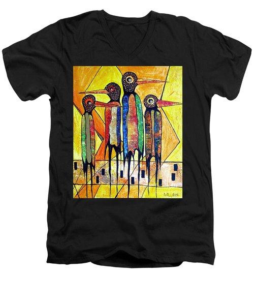 Birds 738 - Marucii Men's V-Neck T-Shirt