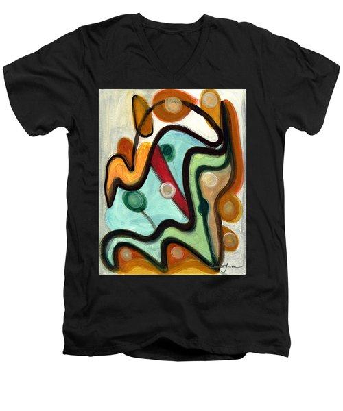 Birds In Flight Men's V-Neck T-Shirt