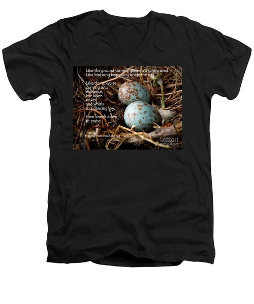 Birdsong From Inside The Egg Men's V-Neck T-Shirt