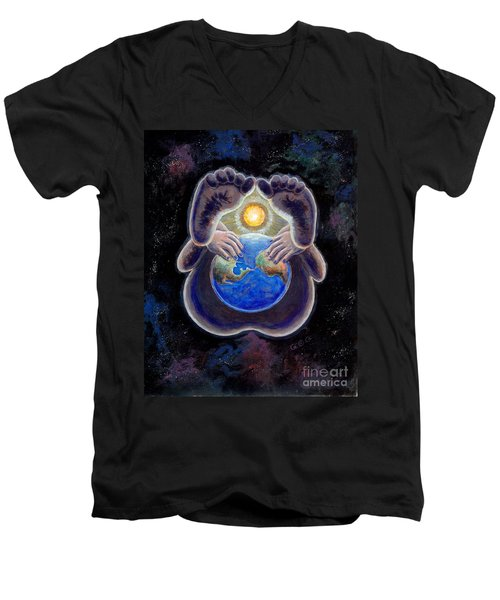 Birth Of The Earth Men's V-Neck T-Shirt by George I Perez