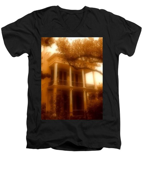 Birthplace Of A Vampire In New Orleans, Louisiana Men's V-Neck T-Shirt by Michael Hoard