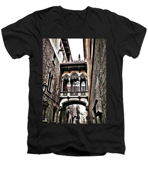 Bishop's Street - Barcelona Men's V-Neck T-Shirt