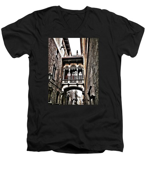 Bishop's Street - Barcelona Men's V-Neck T-Shirt