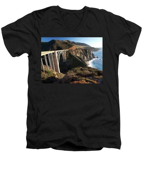 Bixby Bridge Afternoon Men's V-Neck T-Shirt