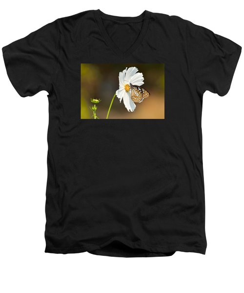 Black And White Men's V-Neck T-Shirt by Fotosas Photography
