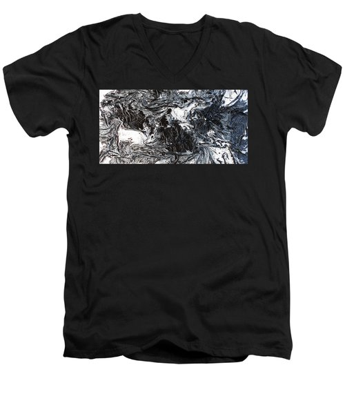 Black And White Series 3 Men's V-Neck T-Shirt