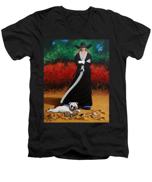 Black Eyed Bully Men's V-Neck T-Shirt