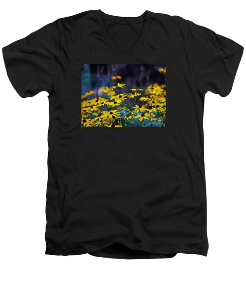 Men's V-Neck T-Shirt featuring the photograph Black-eyed Susans by Patricia Griffin Brett