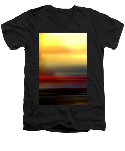 Black Red Yellow Men's V-Neck T-Shirt