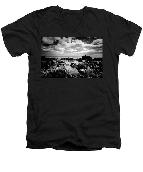 Black Rocks 1 Men's V-Neck T-Shirt