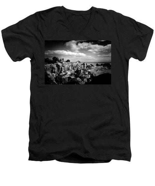 Black Rocks 3 Men's V-Neck T-Shirt