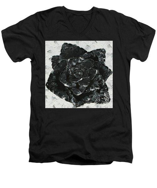 Black Rose I Men's V-Neck T-Shirt