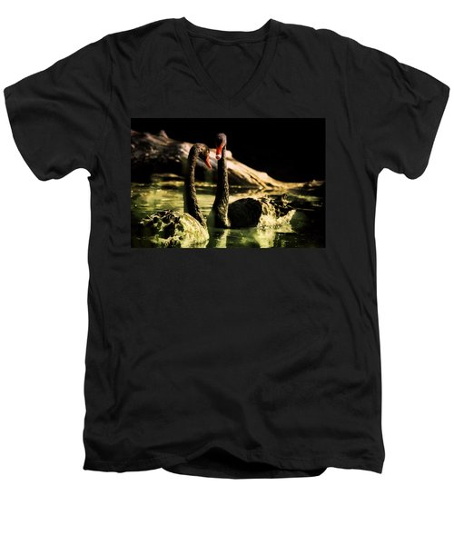 Black Swan Men's V-Neck T-Shirt