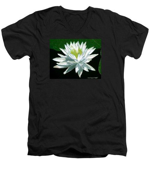 Black Water Beauty Men's V-Neck T-Shirt by Anita Putman