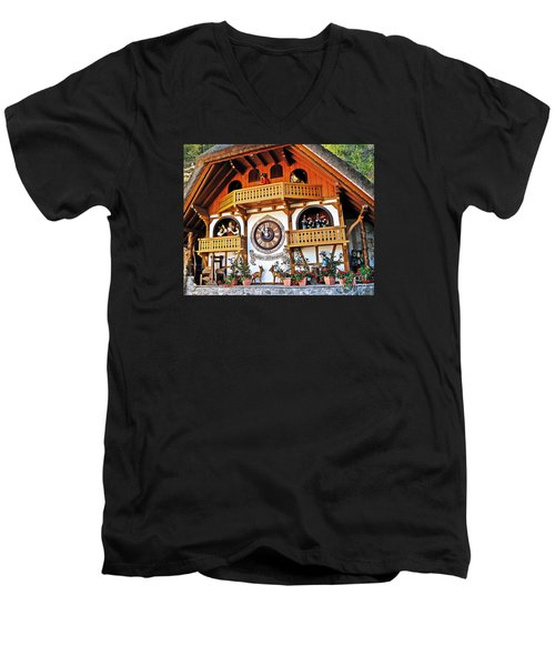 Blackforest Cuckoo Clock Men's V-Neck T-Shirt